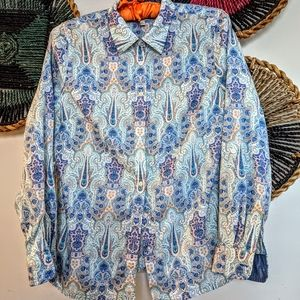 🌼 3/$32 Talbot's Paisley Button Down Fitted Top